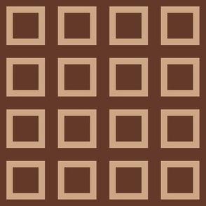 """Mocha-Cocoa Square - Dark - 2"""""""