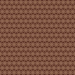 Mocha-Cocoa Floral Abstract - Dark