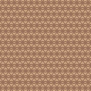 Mocha-Cocoa Floral Abstract - Light