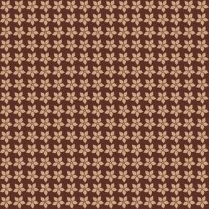 Mocha-Cocoa Flowers - Dark