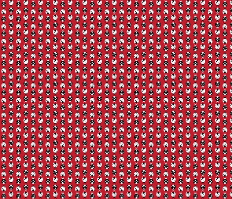 red ladybugs fabric by audreyclayton on Spoonflower - custom fabric