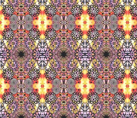 folk flowers fabric by eat_my_sweet_dust on Spoonflower - custom fabric