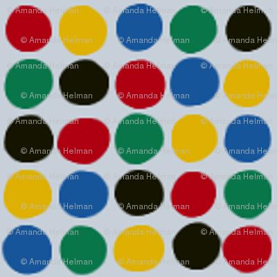 Dots in the Olympic Colors