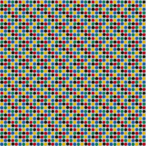 Dots in the Olympic Colors fabric by mongiesama on Spoonflower - custom fabric