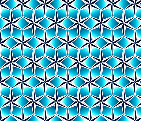 starquilt_-_ombre blues fabric by glimmericks on Spoonflower - custom fabric