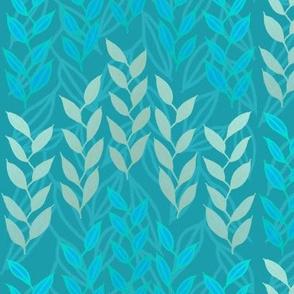 Blue and silver sea grasses by Su_G