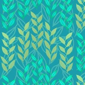 Aqua + bronze sea grasses by Su_G
