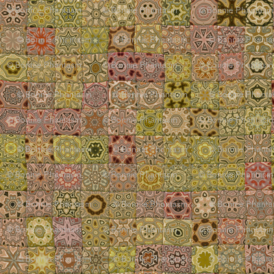 Quilt - Floral - Beige