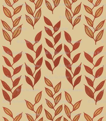 Minoan grasses on beige