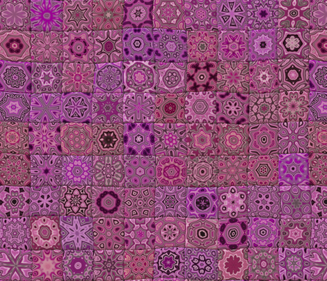 Quilt - Floral - Pink fabric by bonnie_phantasm on Spoonflower - custom fabric