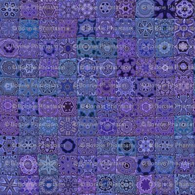 Quilt - Floral - Purple