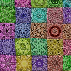 Quilt - Floral - Rainbow