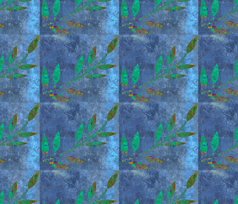 A Leaf of Circus Sky Subtracted fabric by anniedeb on Spoonflower - custom fabric