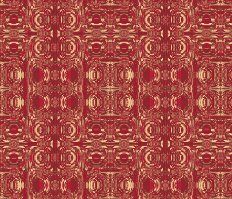 Geranium Reds Concentric Circles Abstract © Gingezel™ 2012 fabric by gingezel on Spoonflower - custom fabric