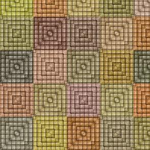 Quilt - Square - Beige