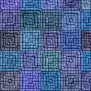 Quilt - Square - Blue