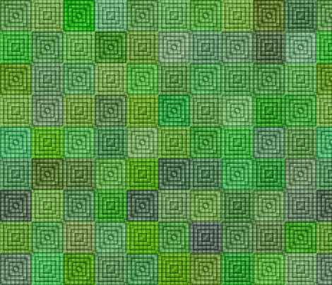 Quilt - Square - Green fabric by bonnie_phantasm on Spoonflower - custom fabric