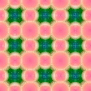 Jellynaughts and Crosses  -coral pink and emerald