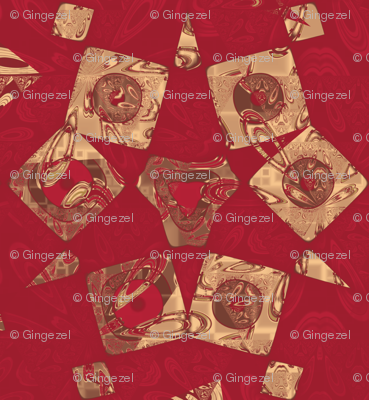 Geranium Reds Abstract © Gingezel™ 2012