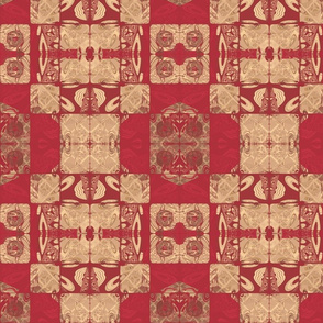 Geranium Red Blocks © Gingezel™ 2012