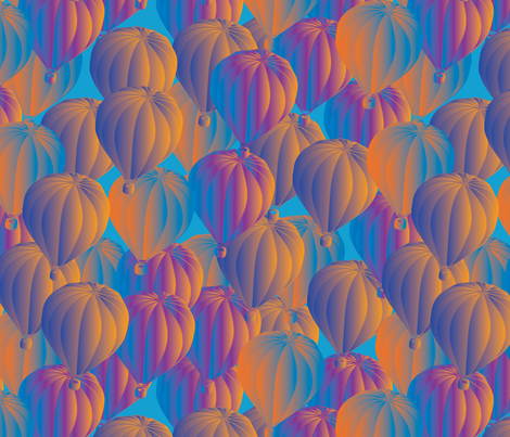 hot air balloons the magical view fabric by kociara on Spoonflower - custom fabric