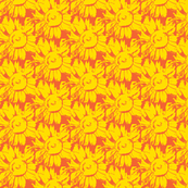 yellow, red sunflower-ch