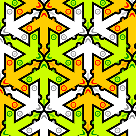 mod plane 3x in 3 fabric by sef on Spoonflower - custom fabric