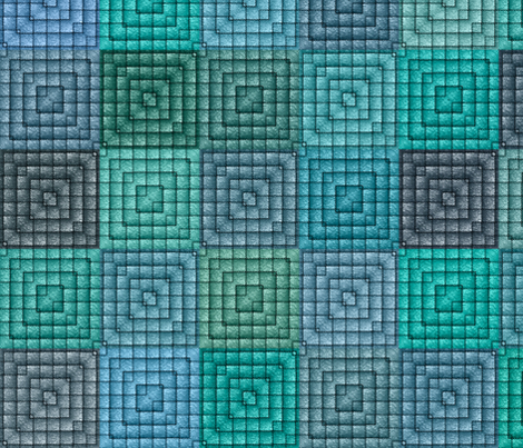 Quilt - Square - Turquoise fabric by bonnie_phantasm on Spoonflower - custom fabric