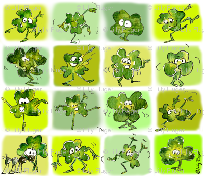 15 Cute Funny Irish Shamrocks Dancing