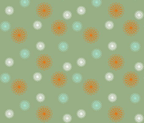 Paperclip flowers fabric by smuk on Spoonflower - custom fabric