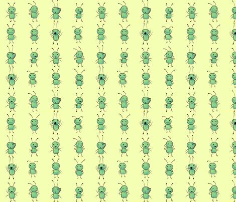 benjabug plain on yellow fabric by glindabunny on Spoonflower - custom fabric