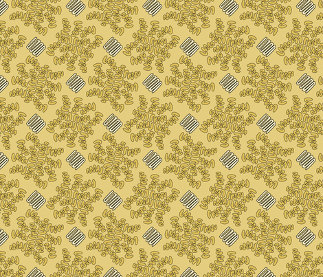 SQUIG GOLD fabric by glimmericks on Spoonflower - custom fabric