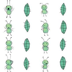 benjabug stripe on white