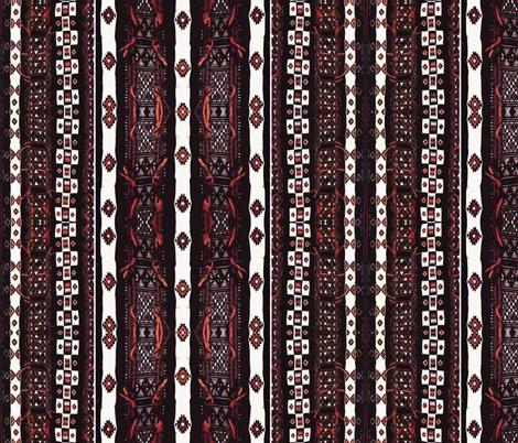 Mali Blanket - black and orange-large fabric by susaninparis on Spoonflower - custom fabric