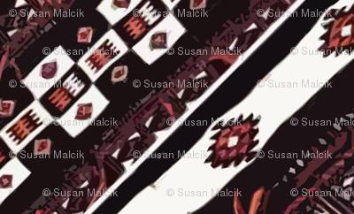 Mali Blanket - black and orange-Diamonds are Forever