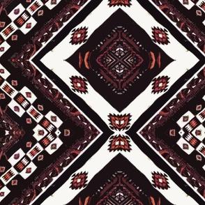 Mali Blanket - black and orange-Diamonds are Forever Rif-big