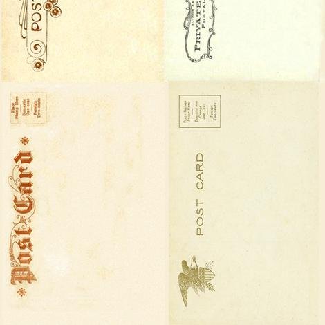 postcard_Backsvintage fabric by materialculture on Spoonflower - custom fabric