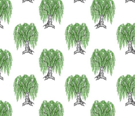 weeping cutleaf birch fabric by glindabunny on Spoonflower - custom fabric