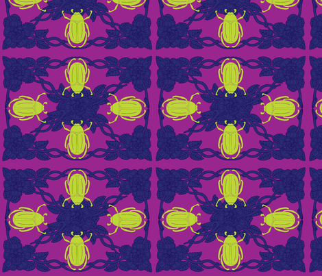 Bright Beetle fabric by viewfromtheskye on Spoonflower - custom fabric