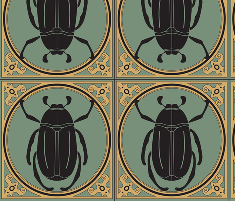 Beetle fabric by viewfromtheskye on Spoonflower - custom fabric