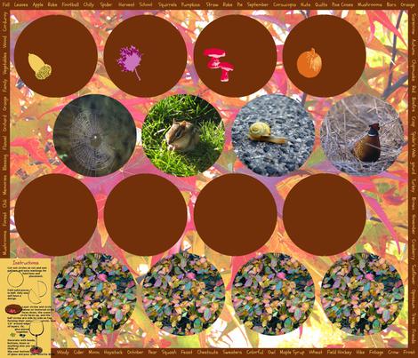 Coasters Fall fabric by miart on Spoonflower - custom fabric