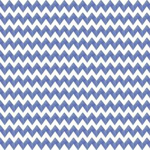 Zig Zag Terrain in Prussian Blue