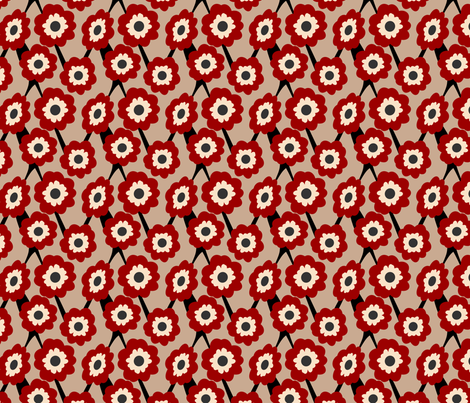 Poppy Lattice fabric by eppiepeppercorn on Spoonflower - custom fabric