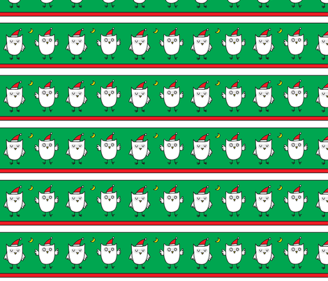 christmas_owls fabric by lisa_littlek on Spoonflower - custom fabric