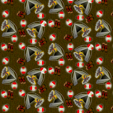 CAMPING fabric by glimmericks on Spoonflower - custom fabric