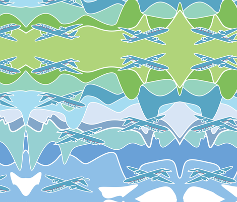 aviation fabric by elyce on Spoonflower - custom fabric