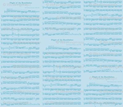 sheet music blue - flight of the bumblebee