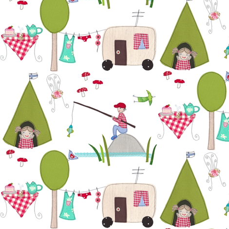 camping fabric by syko on Spoonflower - custom fabric