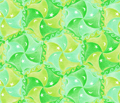 beautiful pea-green boats  fabric by weavingmajor on Spoonflower - custom fabric