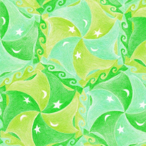 beautiful pea-green boats